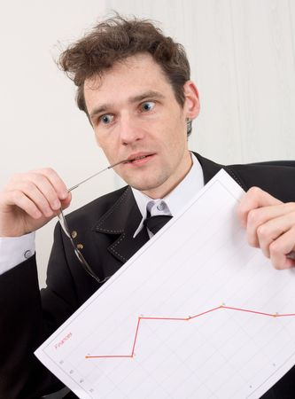 The businessman in horror because of problems with the finance Stock Photo - 3829000