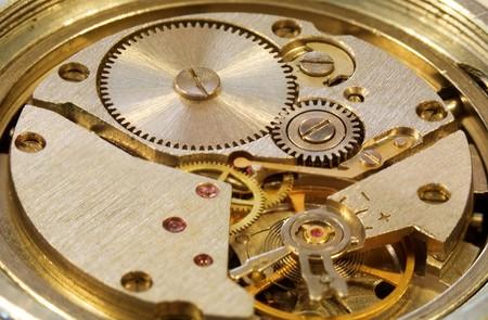 macrophoto: Macrophoto of interiors of a mechanical watch
