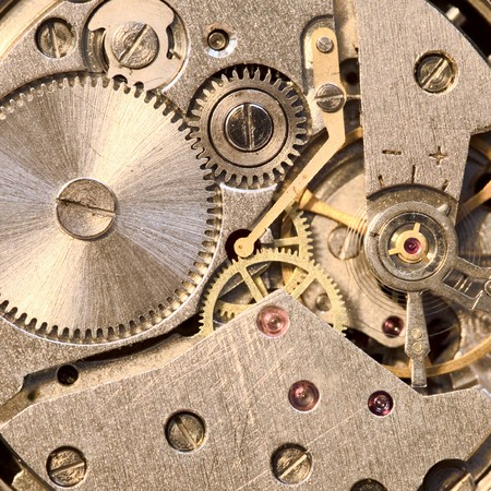 Photo of the mechanism of a watch Stock Photo