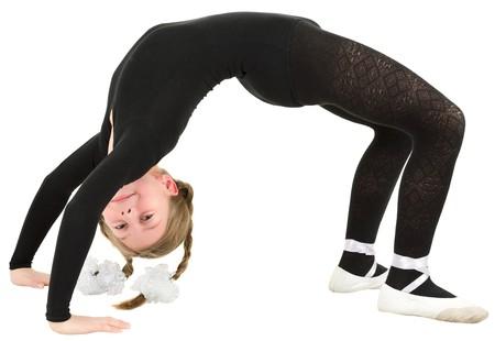 ballerina tights: Ballet dancer girl on the white background