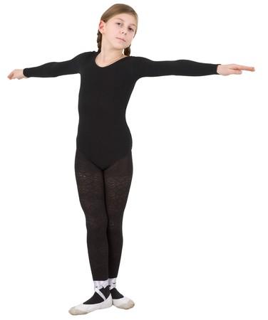 Ballet dancer girl on the white background photo