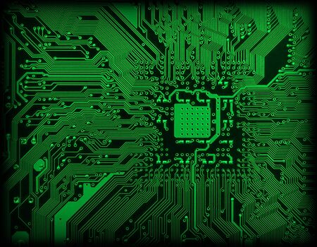 fondo verde oscuro: Electr�nica industrial tecnol�gica de fondo de color verde oscuro