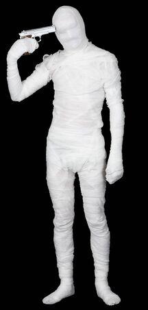 The bandaged man self-murder - is shot Stock Photo - 4310903