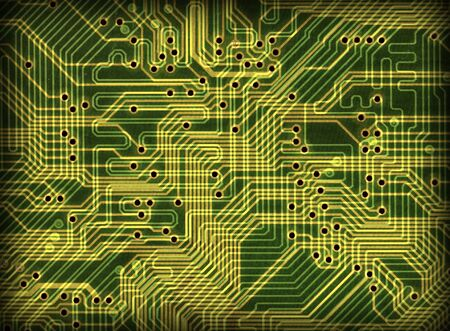fondo verde oscuro: Tecnolog�a electr�nica industrial fondo verde oscuro Foto de archivo
