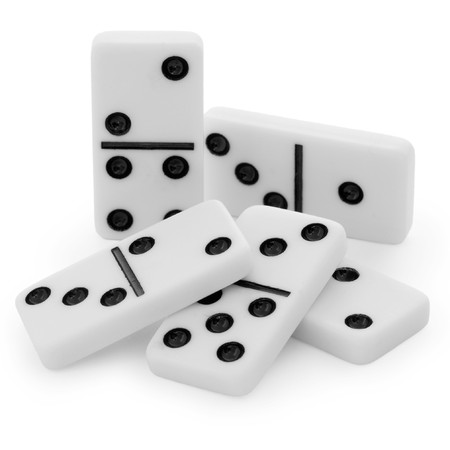double game: Pile from bones of a dominoes with black points