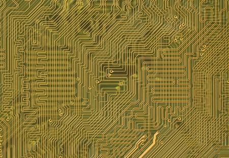Green Circuit board background in hi-tech style