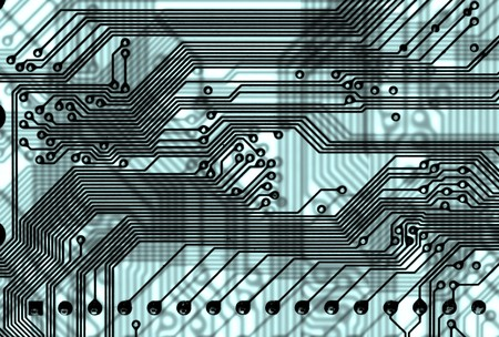 Close-up abstract circuit board background in hi-tech style Stock Photo - 4433982