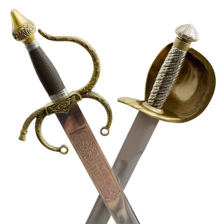 hilt: Two cross shaft of ancient saber and sword