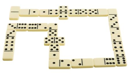Bones of dominoes on the white background Stock Photo - 4508544