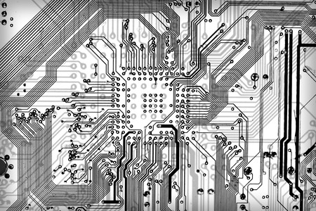 Tech industrial electronic graphic bw background Stock Photo - 4532937