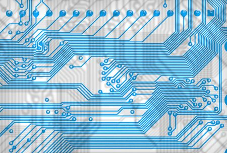 Close-up abstract circuit board background in hi-tech style Stock Photo - 4532932
