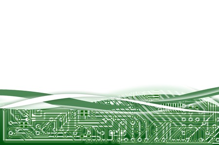 Hi-tech industrial electronic light green abstract background photo