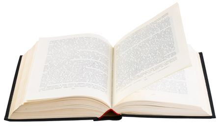 Old big book isolated on white background Stock Photo