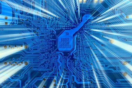 Salut technologie industrielle électronique de fond avec l'arbre de lumière