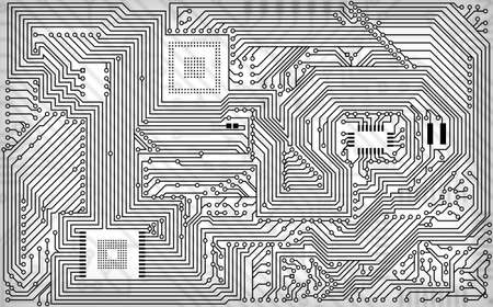 Tech industrial electronic white - black background texture