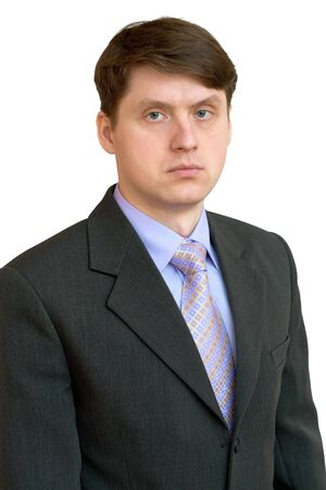 Portrait of the businessman in a shirt, tie and jacket photo