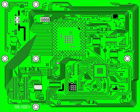 Hi-tech green industrial electronic vector background Vector