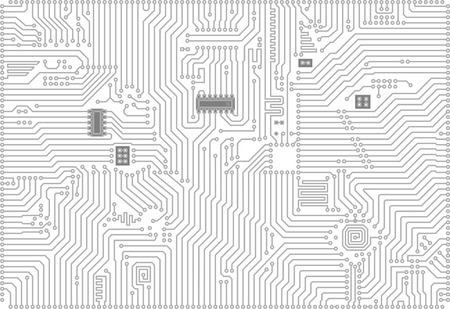 Hi-tech gray and white industrial electronic vector background       Vector