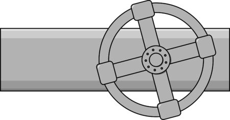 valve: Simple vector gas valve of grey color