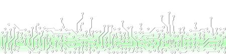 Résumé lumière verte industrielle circuit électronique modèle