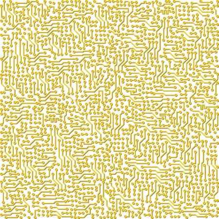 Electronic industrial high-tech circuit board vector golden texture Stock Vector - 5218949