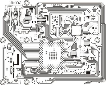 circuitboard: Elettronica industriale moderno circuito vettore sfondo