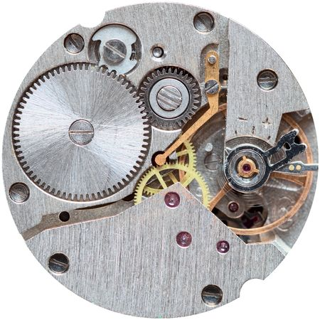 Old clockwork close up isolated on a white background Stock Photo - 5562582