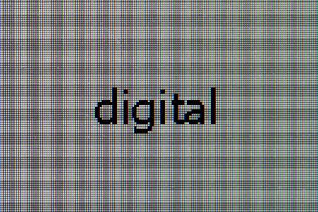 macrophoto: Macro-photo a matrix of the LCD monitor with word - digital Stock Photo