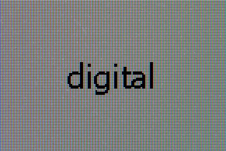 Macro-photo a matrix of the LCD monitor with word - digital Stock Photo - 5670189