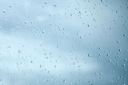 Droplets of rain water on a windowpane background Stock Photo - 5693353