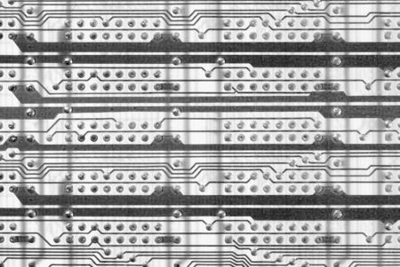 Monochrome abstract industrial circuit board background photo