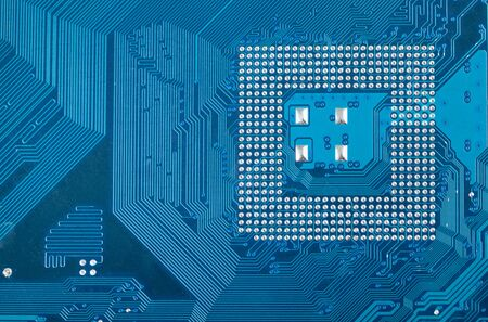 Blue high tech industrial circuit board electronic background Stock Photo - 5937386