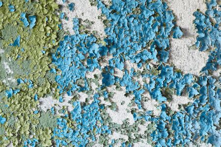peeling paint: The old peeled dirty concrete wall grunge background Stock Photo