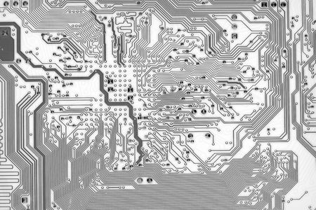 Graphic abstract circuit board background in hi-tech style photo