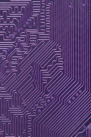 The abstract electronic technological computer violet background photo