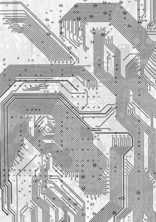 The electronic circuit board hi-tech gray graphic background photo