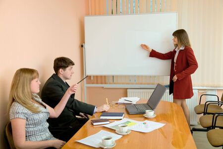 deliberation: The young woman to speak at a meeting