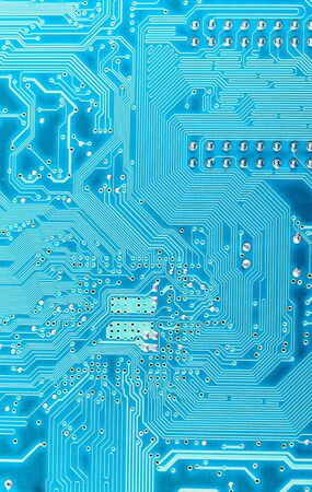 Technological background from a blue computer plate Stock Photo - 6272973