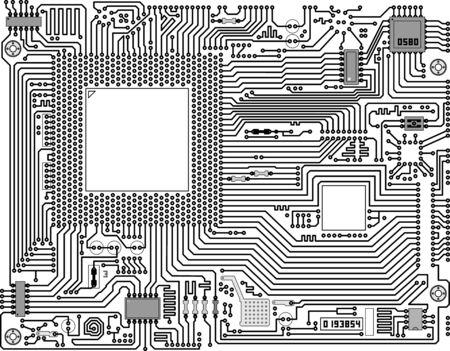 Arrière-plan de résumé technique industrielle circuits électroniques  Banque d'images - 6318254