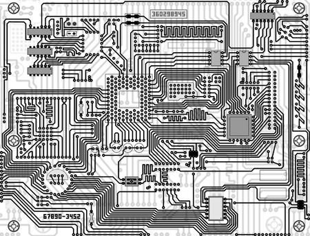 Tech industrial electronic circuit board monochrome background photo