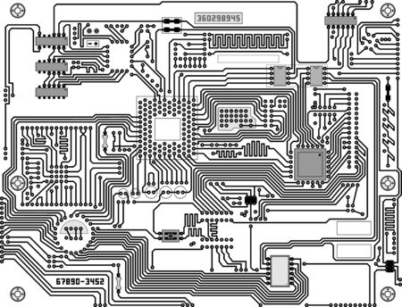 mainboard: Tech industrial electronic circuit board background