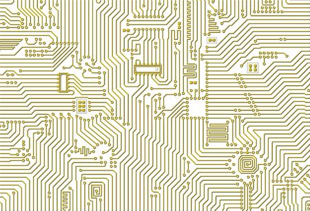 Golden industrial circuit board graphical pattern photo