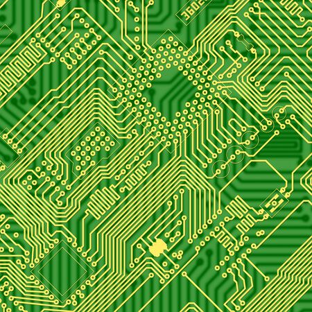 mainboard: Green printed industrial circuit board graphical texture