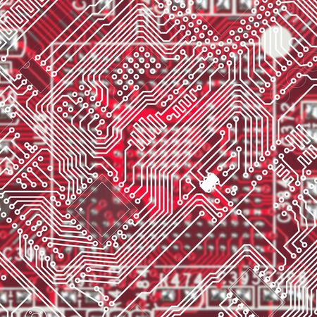 Red Industrial electronic technological circuit board background photo