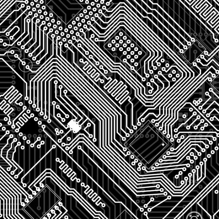 circuitboard: Circuit board industrial electronic monochrome graphic background