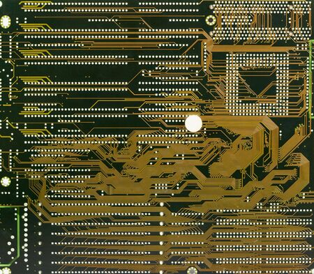 darck: Circuit board industrial electronic darck green background