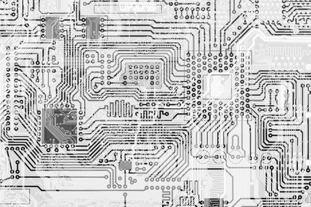 Circuit board industrial electronic monochrome graphical background photo