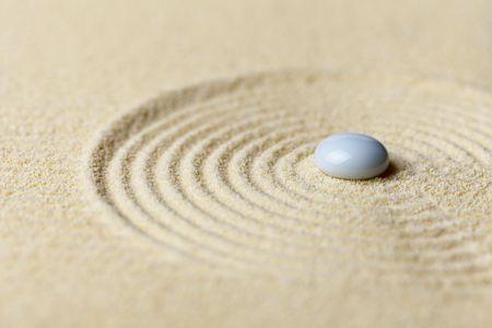 circulos concentricos: Jard�n Zen en miniatura - una composici�n abstracta