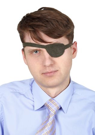 Seus one-eyed man isolated on a white background Stock Photo - 6397665