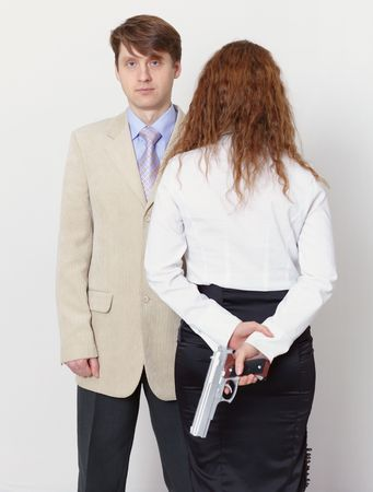 A man and a woman - no simple relationship photo